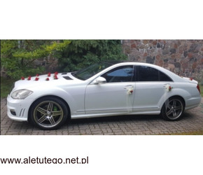 Merc S Class Biała Perła AMG
